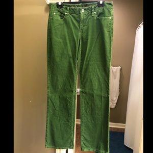 LOFT Green Corderoy Pants